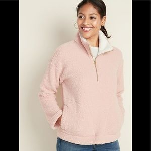NWT Old Navy Sherpa Quarter Zip